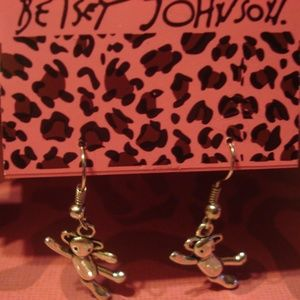 Betsey Johnson Silver TeddyBears